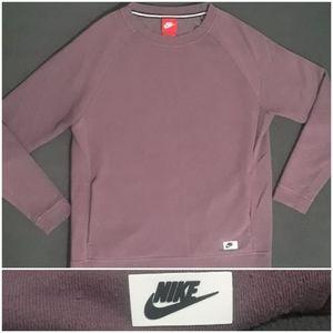 Nike Womens Essential Purple Crewneck Sweatshirt